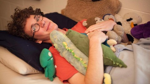 Maxwell Green, class of 2020, displays his collection of stuffed animals