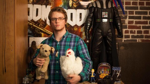 Jerry Kean holds his trusty stuffed animals, Toffee and Mr. McChicken